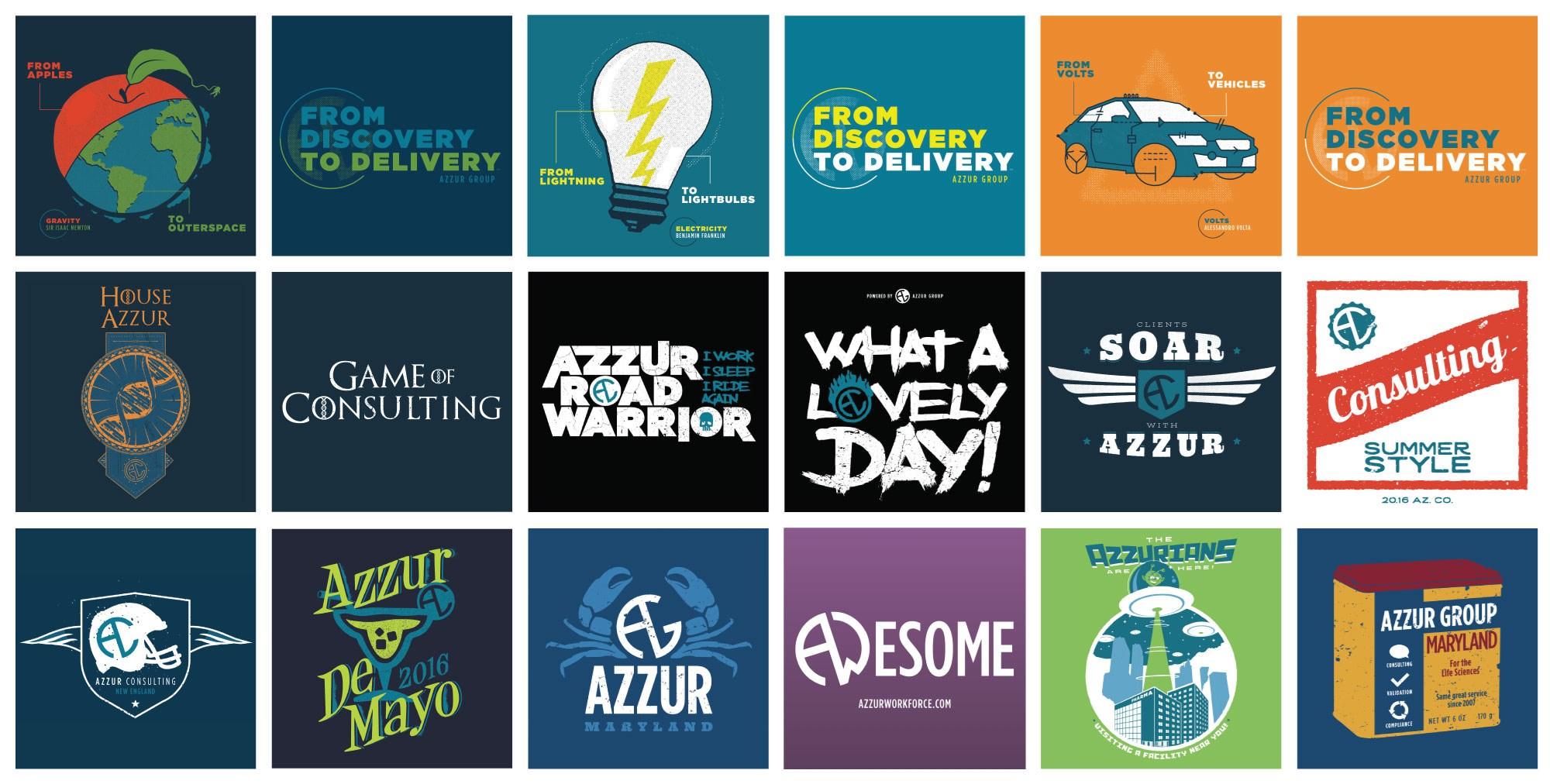 Azzur T-Shirt Designs